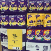Various Cadbury & Nestle Easter Eggs 75p @ Tesco