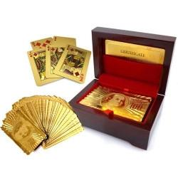 24kt deck of cards in wooden presentation box - £5.59 delivered