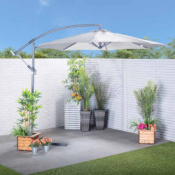 Banana Cantilever Parasol - Grey £77.99 Delivered @ Robert Dyas