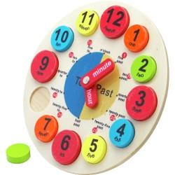 Chad Valley PlaySmart Wooden Clock @ Argos £3.99