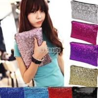 Women's evening Sequin Clutch Bag £1.88 delivered