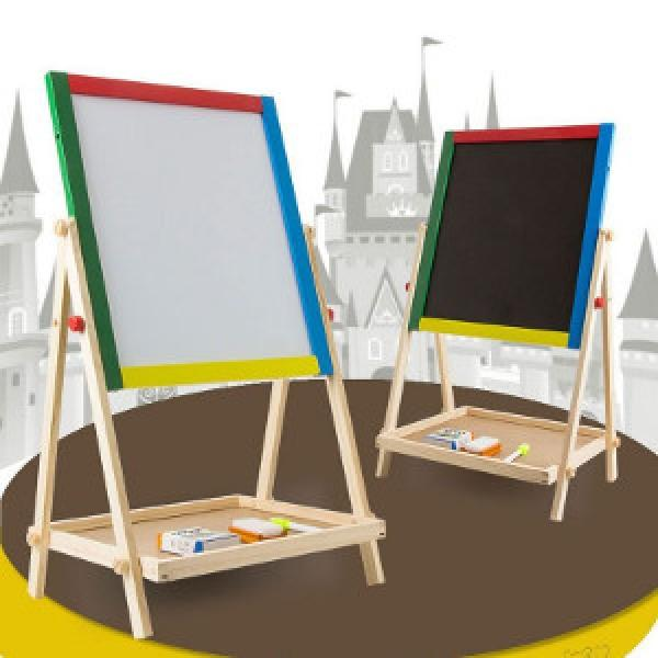 2 in 1 chalk board + easel with chalks, sponge, eraser & marker pen - £9.38 delivered