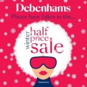 Up to Half Price Winter Sale on @ Debenhams