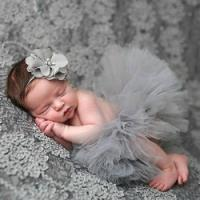Baby Tutu Skirt & Headband Photo Prop set £1.96 delivered