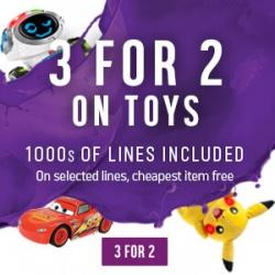 3-4-2 on ALL Toys & Games @ Argos